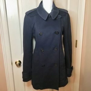 Burberry Brit Navy Blue Pea Coat - Size 10